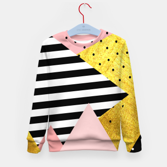 Thumbnail image of Fall Abstraction Pink Kid's sweater, Live Heroes