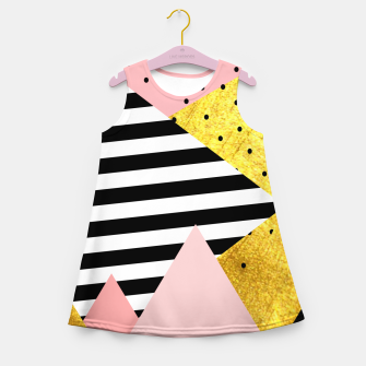 Fall Abstraction Pink Girl's summer dress imagen en miniatura