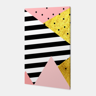Fall Abstraction Pink Canvas miniature