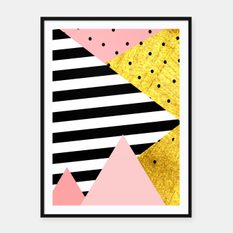 Fall Abstraction Pink Framed poster imagen en miniatura