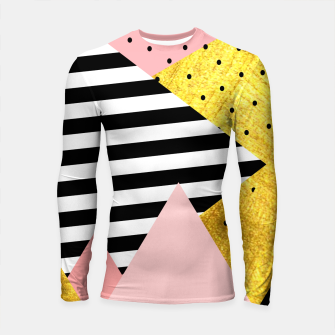 Fall Abstraction Pink Longsleeve rashguard  miniature