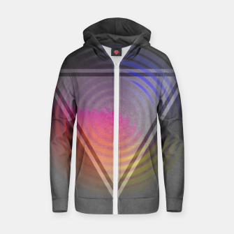 Thumbnail image of Rainbow Triangle Zip up hoodie, Live Heroes