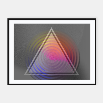 Thumbnail image of Rainbow Triangle Framed poster, Live Heroes