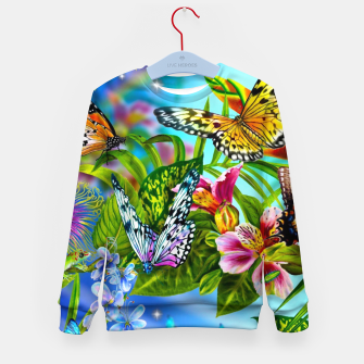 Thumbnail image of Fantasy Butterfly Kid's sweater, Live Heroes
