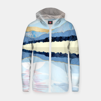 Thumbnail image of Winter Reflection Zip up hoodie, Live Heroes