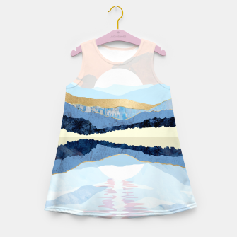 Miniatur Winter Reflection Girl's summer dress, Live Heroes