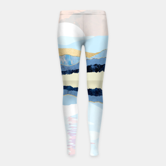 Miniatur Winter Reflection Girl's leggings, Live Heroes
