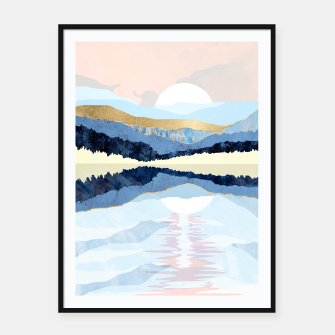 Thumbnail image of Winter Reflection Framed poster, Live Heroes
