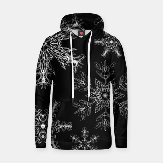 Thumbnail image of snowflakes in the night Hoodie, Live Heroes