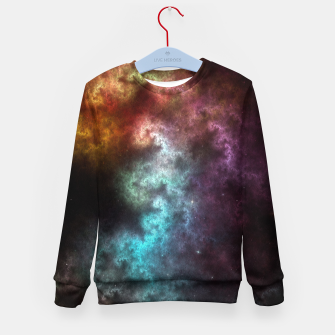 Thumbnail image of Squiggley Nebula Star Dust Cloud CRQENH Kid's sweater, Live Heroes