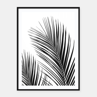Thumbnail image of Tropical Palm Leaves #1 #botanical #decor #art Plakat mit rahmen, Live Heroes