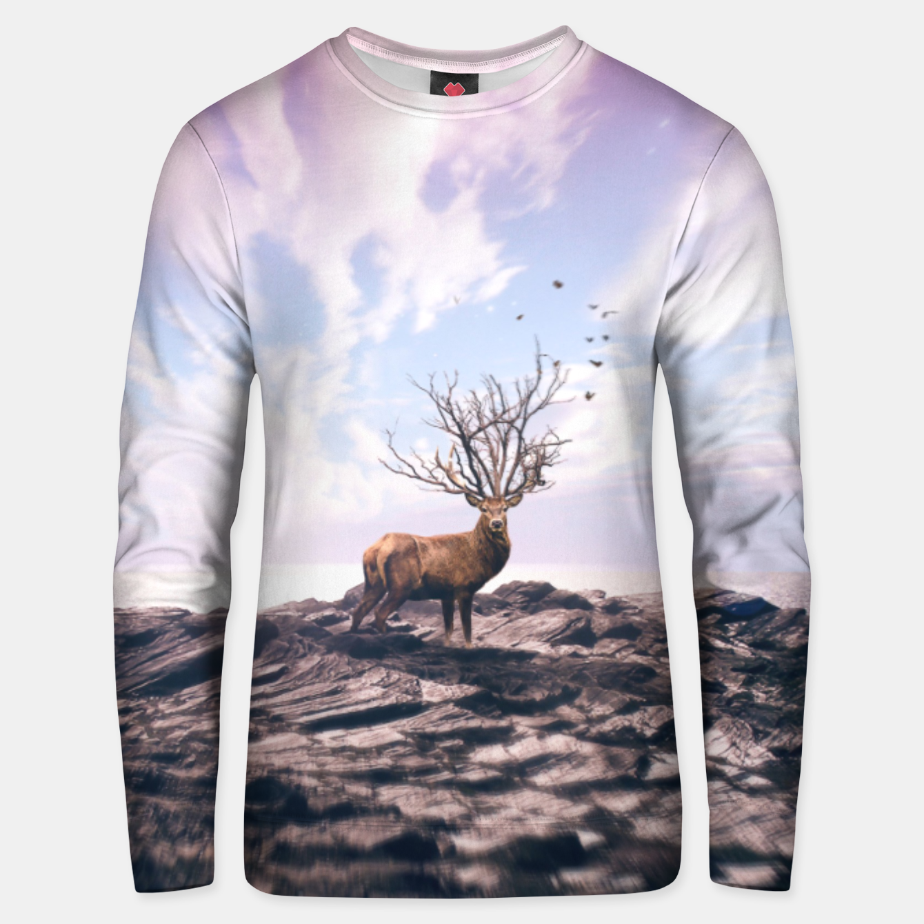 Image of Deer on a Cliff Unisex sweater - Live Heroes