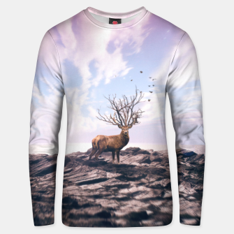 Thumbnail image of Deer on a Cliff Unisex sweater, Live Heroes