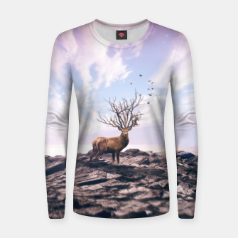 Deer on a Cliff Women sweater obraz miniatury