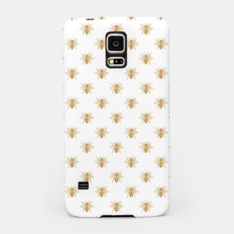 Imagen en miniatura de Gold Metallic Faux Foil Photo-Effect Bees on White Samsung Case, Live Heroes