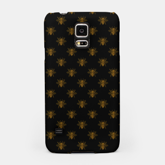 Thumbnail image of Gold Metallic Foil Bees on Black Samsung Case, Live Heroes