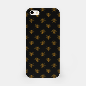 Thumbnail image of Gold Metallic Foil Bees on Black iPhone Case, Live Heroes