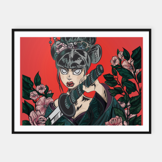 Thumbnail image of Onna-bugeisha  Framed poster, Live Heroes