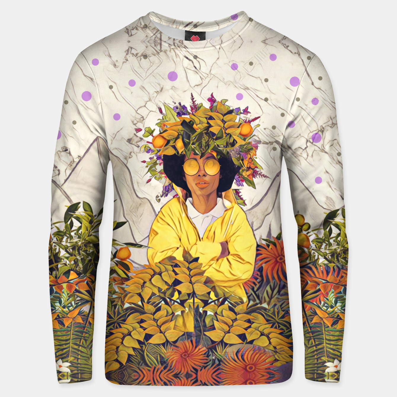 Foto Floral marble Unisex sweater - Live Heroes