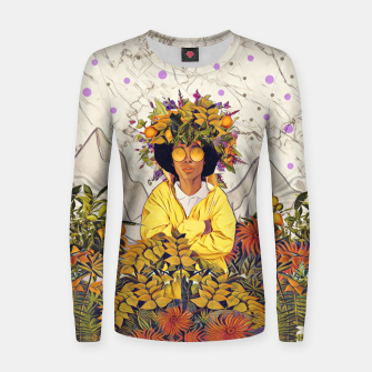 Miniatur Floral marble Women sweater, Live Heroes