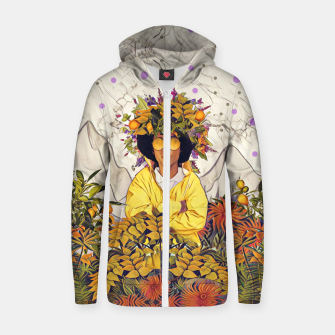 Thumbnail image of Floral marble Zip up hoodie, Live Heroes