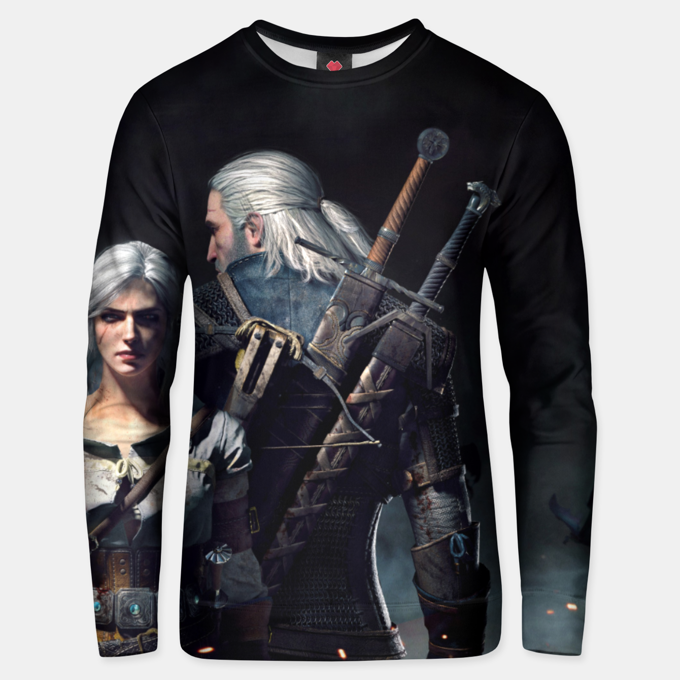 Image of Grey Wolf Unisex sweater - Live Heroes