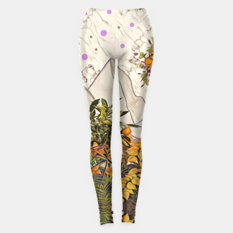 Thumbnail image of Floral marble Leggings, Live Heroes