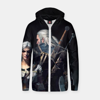 Thumbnail image of Grey Wolf Zip up hoodie, Live Heroes