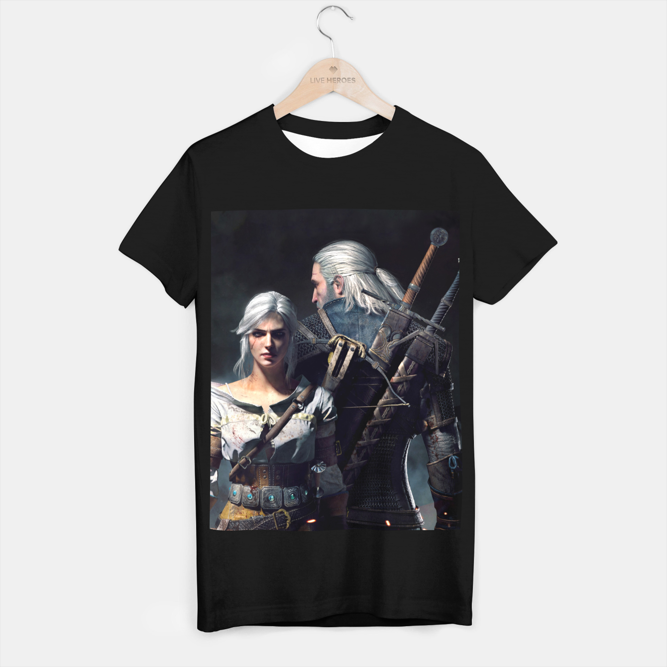 Image of Grey Wolf T-shirt regular - Live Heroes