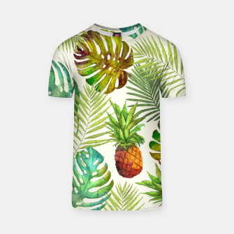Thumbnail image of Pineapple and Monstera T-shirt, Live Heroes