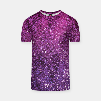 Thumbnail image of Purple Pink Ombre Lady Glitter #1 #shiny #decor #art T-Shirt, Live Heroes