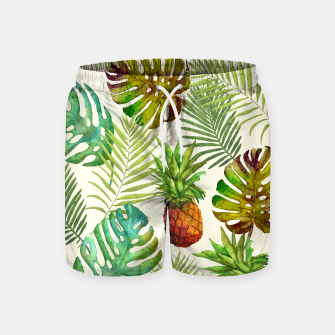 Thumbnail image of Pineapple and Monstera Swim Shorts, Live Heroes