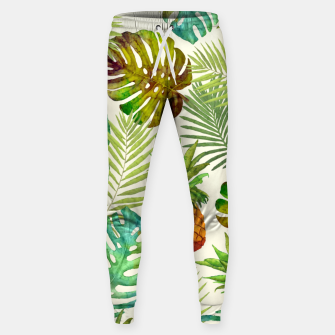 Thumbnail image of Pineapple and Monstera Sweatpants, Live Heroes
