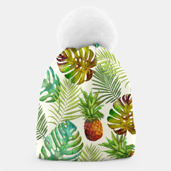 Thumbnail image of Pineapple and Monstera Beanie, Live Heroes
