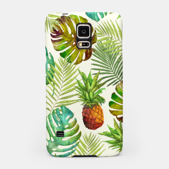 Thumbnail image of Pineapple and Monstera Samsung Case, Live Heroes