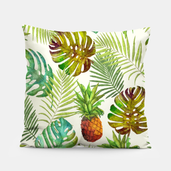 Thumbnail image of Pineapple and Monstera Pillow, Live Heroes