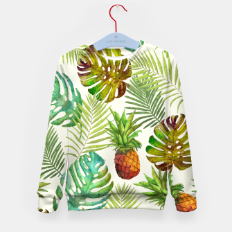 Thumbnail image of Pineapple and Monstera Kid's sweater, Live Heroes