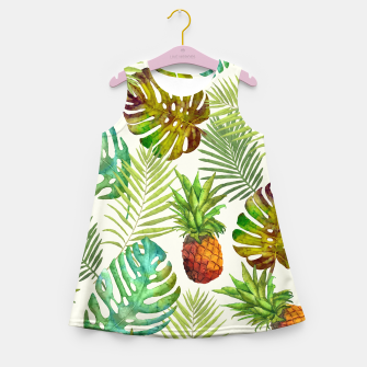 Thumbnail image of Pineapple and Monstera Girl's summer dress, Live Heroes