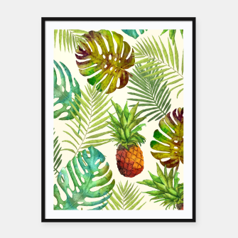 Thumbnail image of Pineapple and Monstera Framed poster, Live Heroes