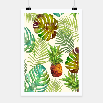 Thumbnail image of Pineapple and Monstera Poster, Live Heroes