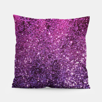 Thumbnail image of Purple Pink Ombre Lady Glitter #1 #shiny #decor #art Kissen, Live Heroes