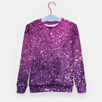 Thumbnail image of Purple Pink Ombre Lady Glitter #1 #shiny #decor #art Kindersweatshirt, Live Heroes