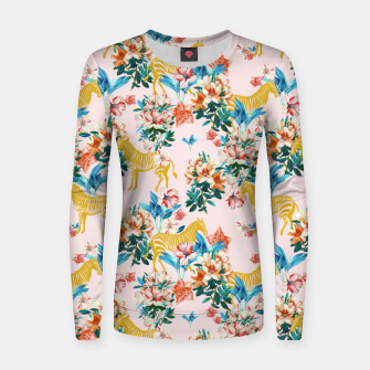 Floral and Zebras Women sweater thumbnail image