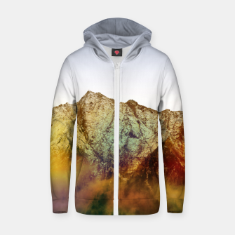 Thumbnail image of Golden Mountain Zip up hoodie, Live Heroes