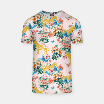 Floral and Zebras T-shirt thumbnail image