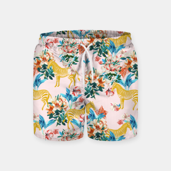 Floral and Zebras Swim Shorts thumbnail image