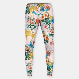 Floral and Zebras Sweatpants thumbnail image