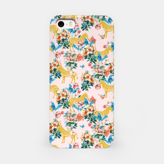 Floral and Zebras iPhone Case thumbnail image