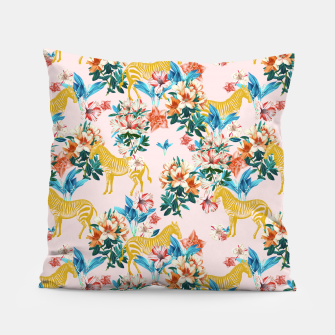 Floral and Zebras Pillow thumbnail image