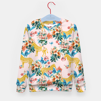 Floral and Zebras Kid's sweater thumbnail image